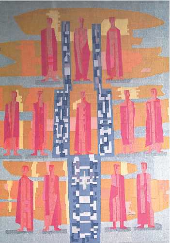 Folke Heybroek, Altar Weaving - Ånge Church, 1959, 280 x 350cm