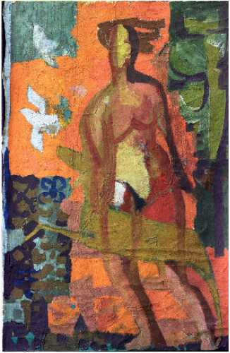 Folke Heybroek, Nude, 1952, oil on canvas, 75 x 120cm