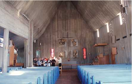Inetrior of Östertälje Church, 1961